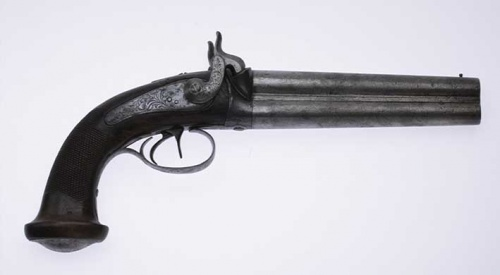 Peter Lalor's Pistol,c1840. State Library of Victoria (H36528)